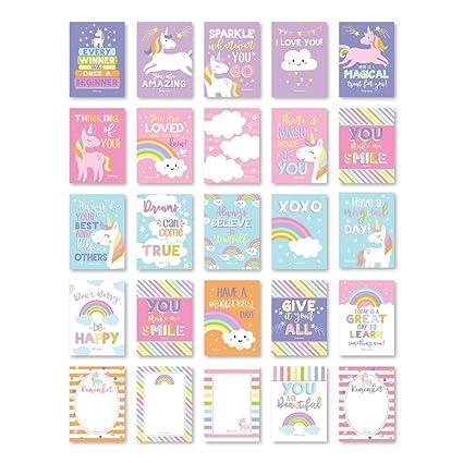 25 Unicorn Lunch Box notas para niños, Lol Fun Love Notes ...