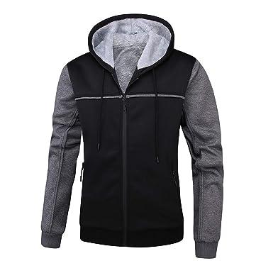 Men/'s Winter Hoodies Classic Hooded Sweatshirt Jacket Coats Outwear Button Tops