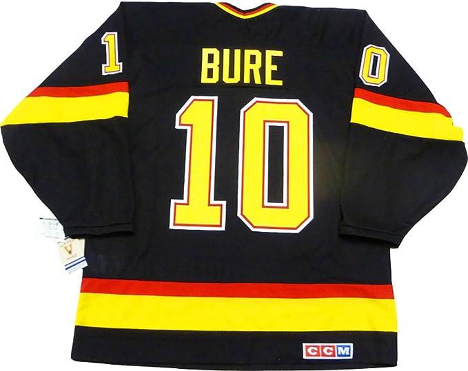 97ac244a54c Pavel Bure Vancouver Canucks 1994 black skate jersey CCM (Medium ...