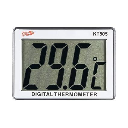 Anself KT505 - Mini Lcd Medidor De Temperatura De Acuario, Termómetro Digital De Pecera,