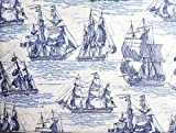 full size pirate sheets - Max Studio Kids Blue on White Sailing Ship Sheet Set, Full Size