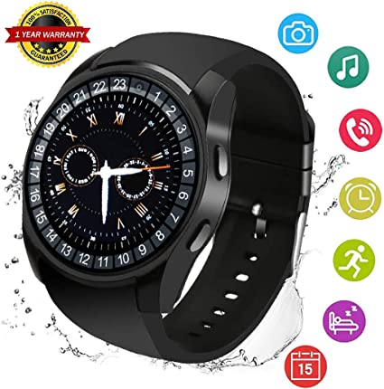 Smart Watch Sport Smartwatch Fitness Tracker with Sleep Monitor Make Call Message Music Player Wristwatch for Men Women Kids Compatible for iphone ...