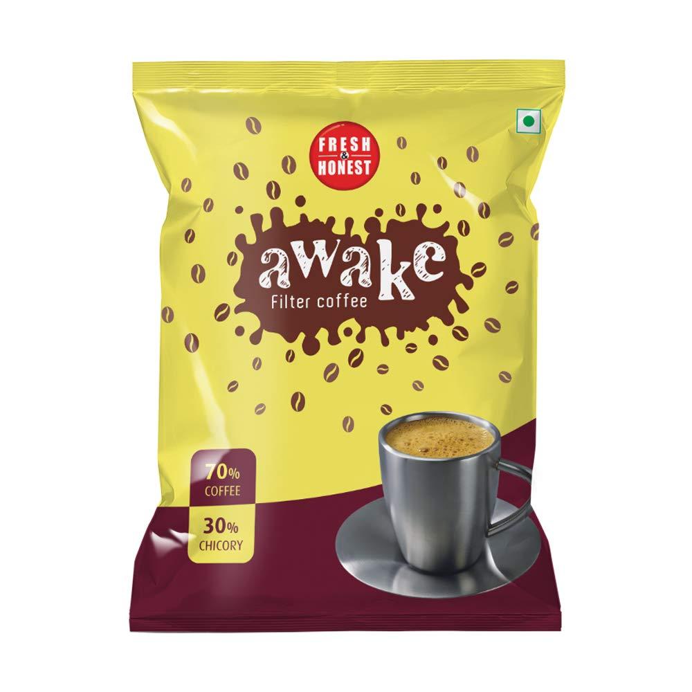 FRESH & HONEST Awake Filter Coffee Powder 70: 30 Blend, 500 g