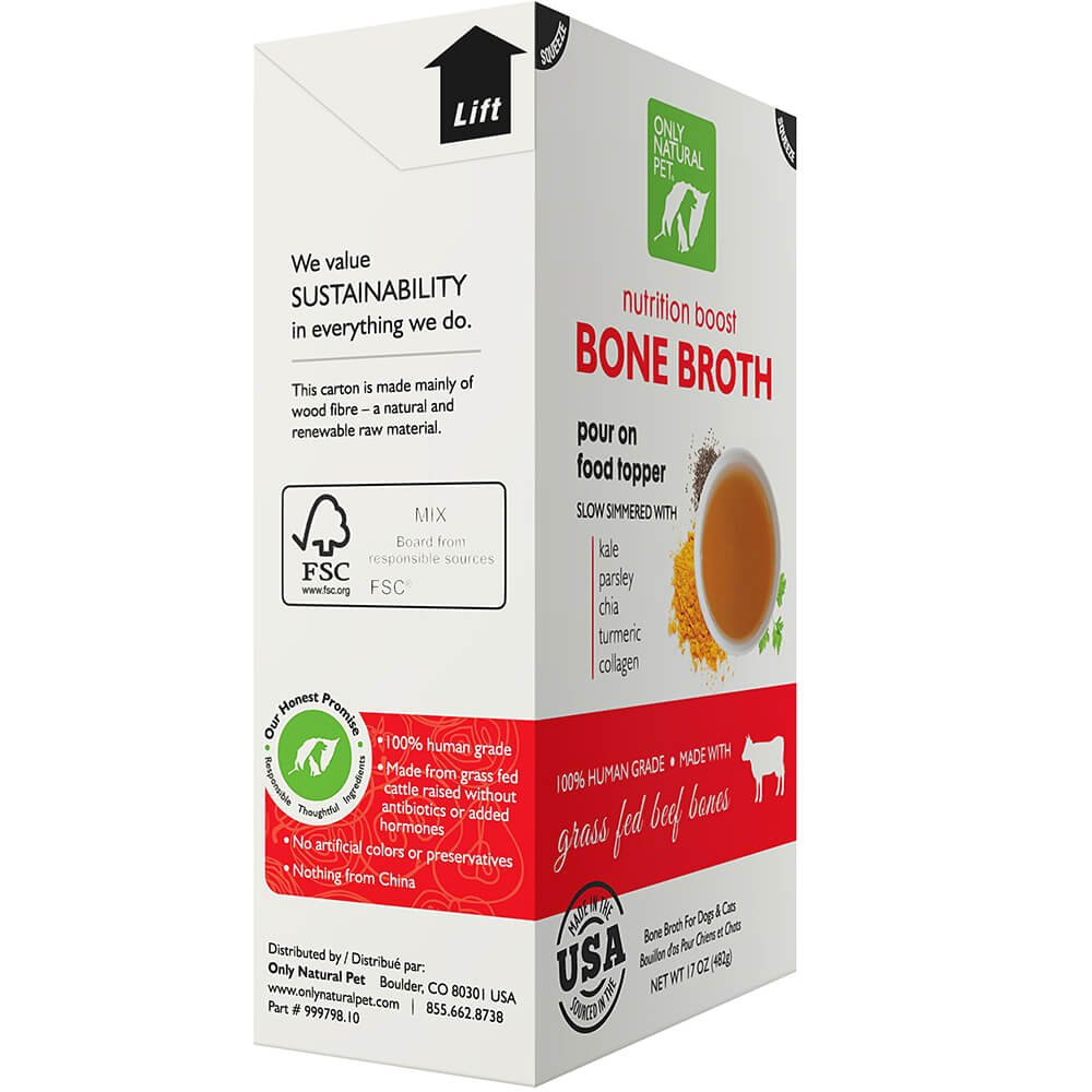 Only Natural Pet Grass Fed Beef Bone Broth 17 oz 12 Case by Only Natural Pet (Image #5)