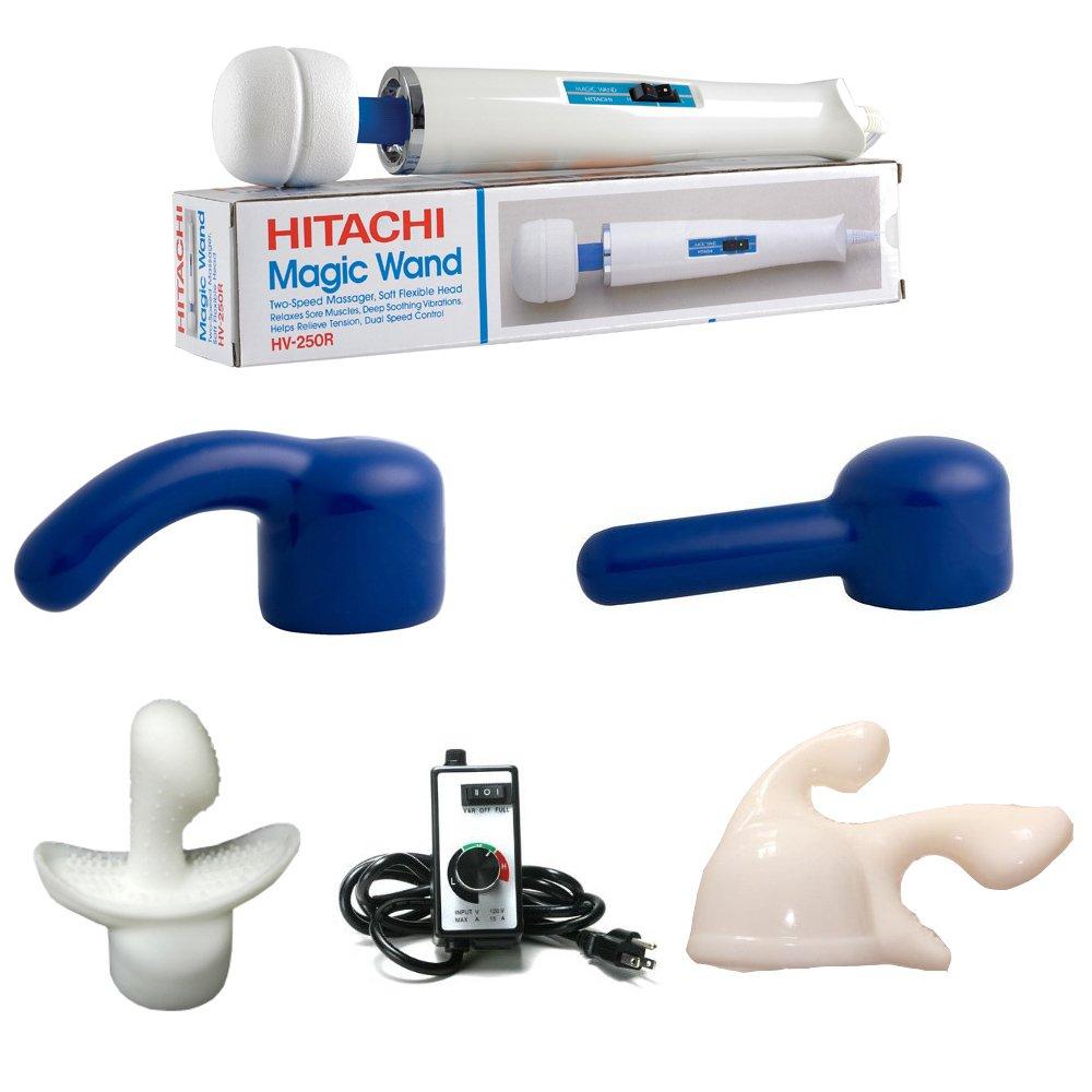 Hitachi Magic wand Massager with Bonus attachment kit (Hitachi Wand + Ultimate Pack) by Hitachi
