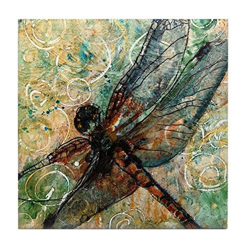 Coaster Dragonfly Tile - CafePress - Dragonfly Dance - Tile Coaster, Drink Coaster, Small Trivet