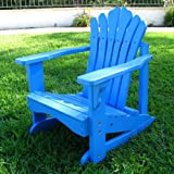 : Shine Co 4526BL 19 x 22 x 23 Inch Sanibel Kids Adirondack Rocker - Blue