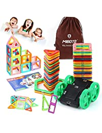 Magnetic Building Blocks Magnet Tiles Set Educational Stacking Toys By Mibote-45 pcs BOBEBE Online Baby Store From New York to Miami and Los Angeles