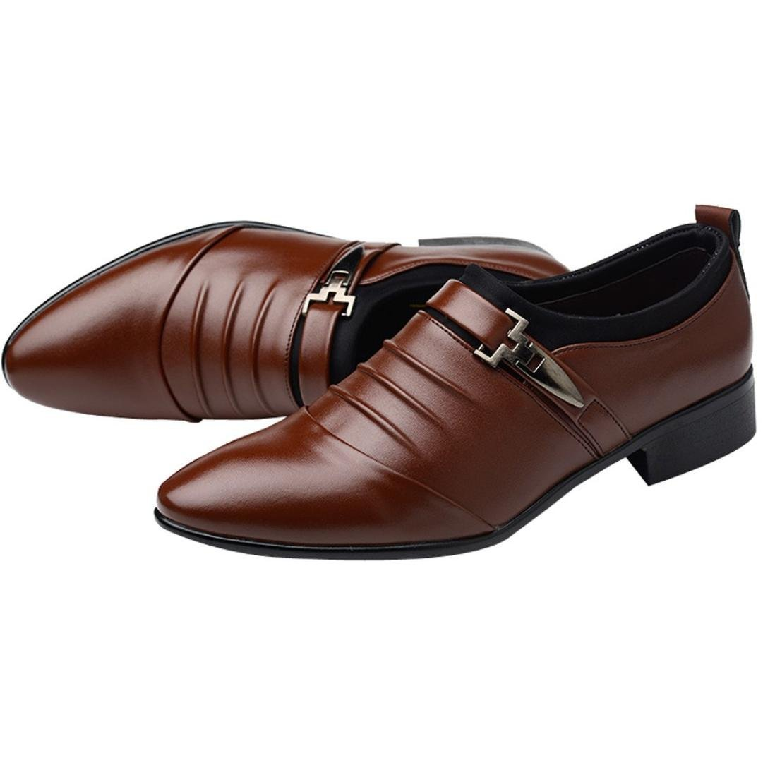 e2a8d534a Amazon.com: 2019 Mens Classic Oxford Shoes Size 5.5-10.5,Leather Pointed  Toe Dress Shoes for Business Wedding Party: Clothing