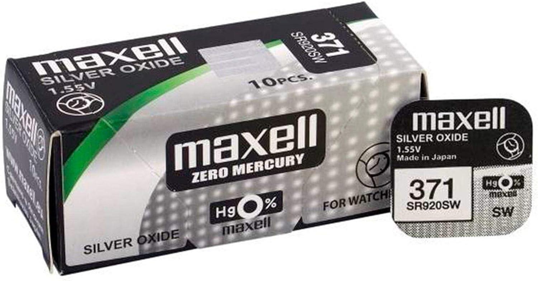 10 X Maxell 371 Sr920sw 1 55 Volt 39 Mah Ago Elektronik