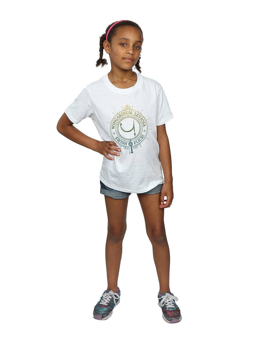 HARRY POTTER Girls Wingardium Leviosa Spells Charms T-Shirt