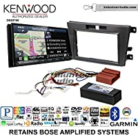 Volunteer Audio Kenwood DNX874S Double Din Radio Install Kit with GPS Navigation Apple CarPlay Android Auto Fits 2007-2009 Mazda CX-7 (With Bose)