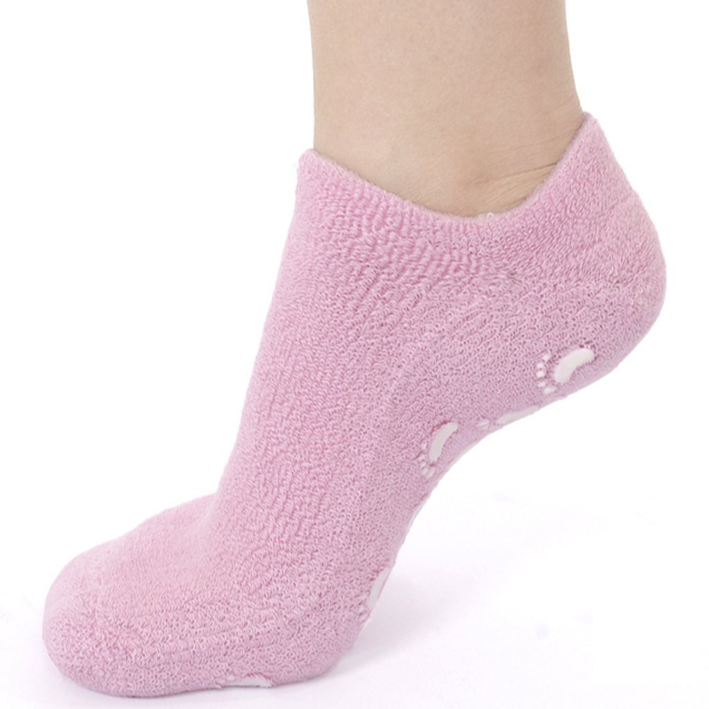 DIDI USA Moisturizing Therapeutic Gel Spa Socks, Pink, 9 Count