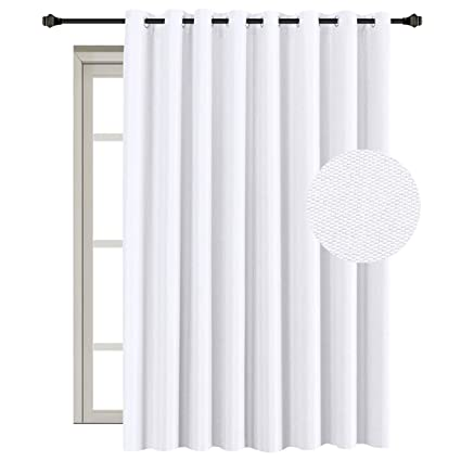 amazon com white linen curtain extra long and wide curtain for