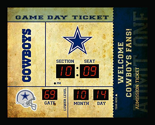 Team Sports America Dallas Cowboys Bluetooth Scoreboard Wall Clock ()