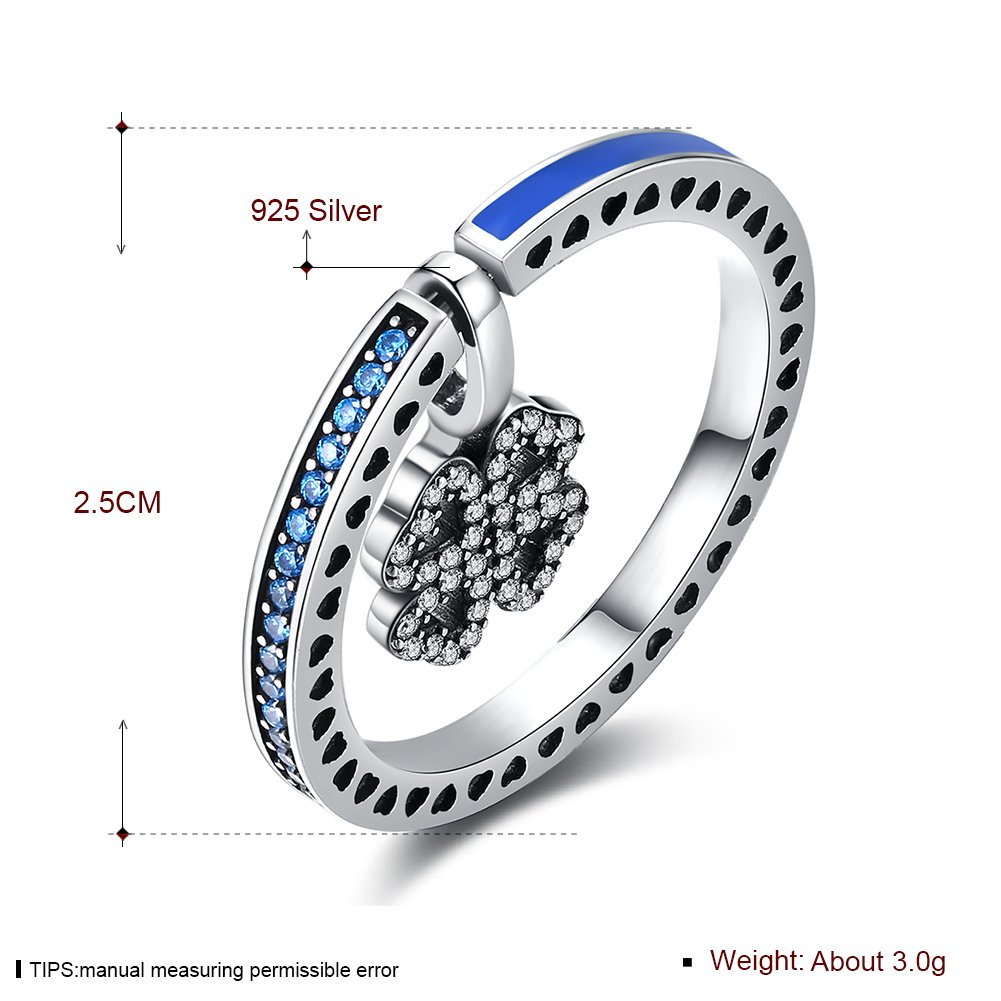 V-MONI S925 Silver Retro Style Dualuse Ring Can Be DIY Necklace