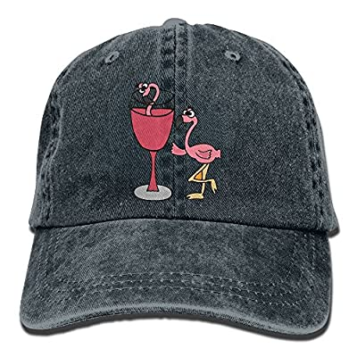 FAING Pink Flamingo In Blush Wine Glass Washed Retro Cowboy Hat