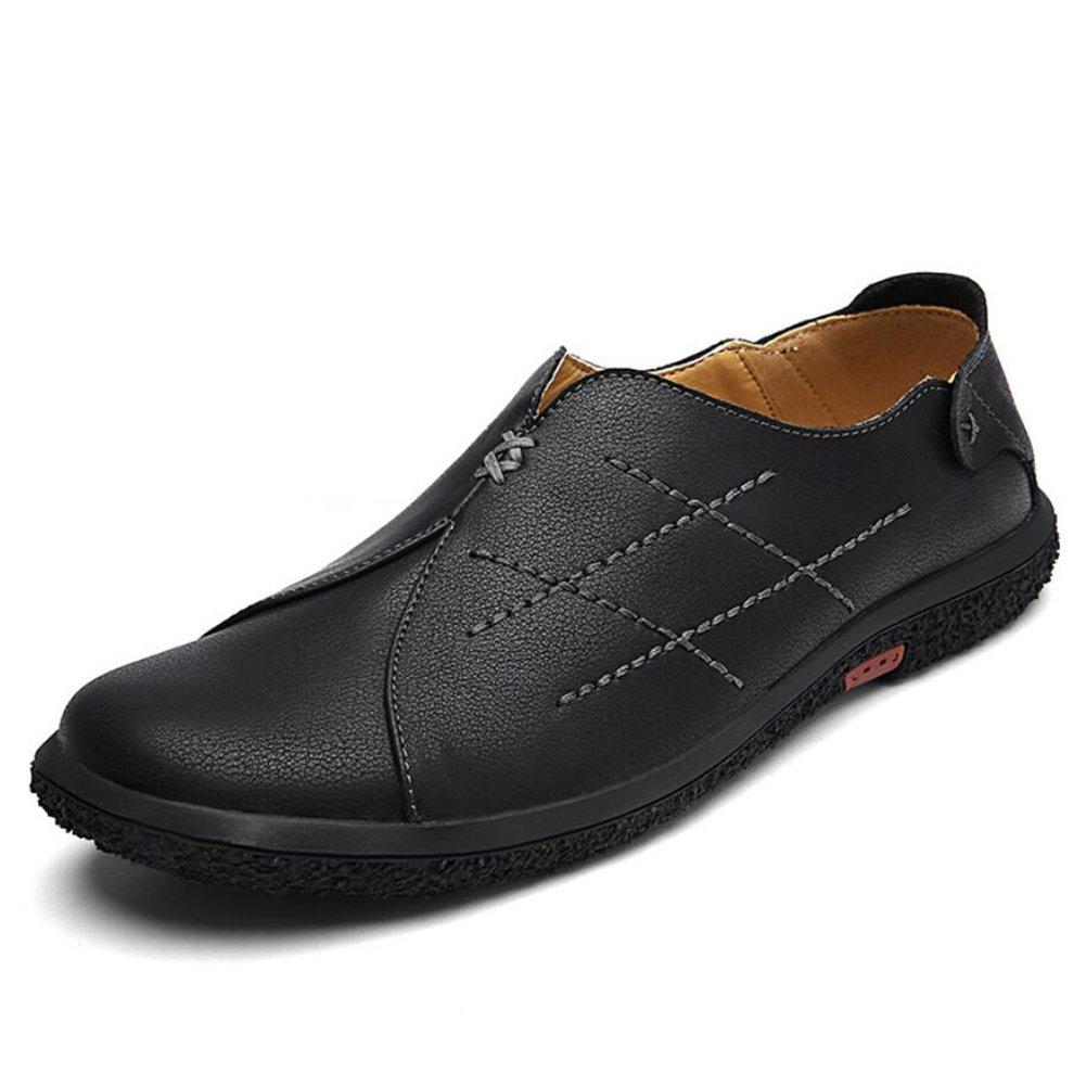 Herrenschuhe Leder Flache Loafers Frühling/Herbst/Winter Komfort Casual Lederschuhe Herren Reise/Täglich Loafers  SlipOns Fahren Schuhe (Farbe : Schwarz  Größe : 39) Schwarz