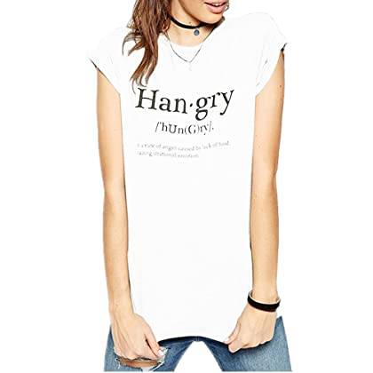 5fef62e33ae Haola Women Fashion Grey Causul Print T Shirts Summer Funny Tops