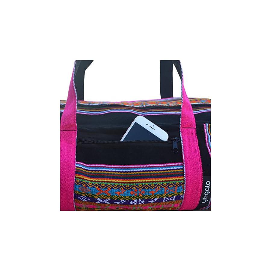 Yoga Mat Bag Full Zip, Handmade, Large, Zip Pocket, Exercise Yoga Mat Bag (5 Colors)