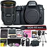 Canon EOS 6D Mark II 26.2 MP Digital SLR Camera (Wi-Fi Enabled) PROFESSIONAL PHOTOGRAPHER Lens Kit with EF 24-70mm f/2.8L II USM Lens & Premium Camera Works Accessory Bundle