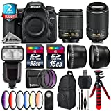Holiday Saving Bundle for D7500 DSLR Camera + 55-200mm VR II Lens + AF-P 18-55mm + Flash with LCD Display + 6PC Graduated Color Filter + 2yr Extended Warranty + 32GB Class 10 - International Version