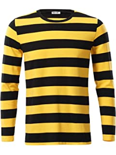 9b99b7818db Arena Black and Gold Traditional Style Bobble Hat. £7.99 · MSBASIC Men s  Casual Long Sleeve Cotton Striped Shirt