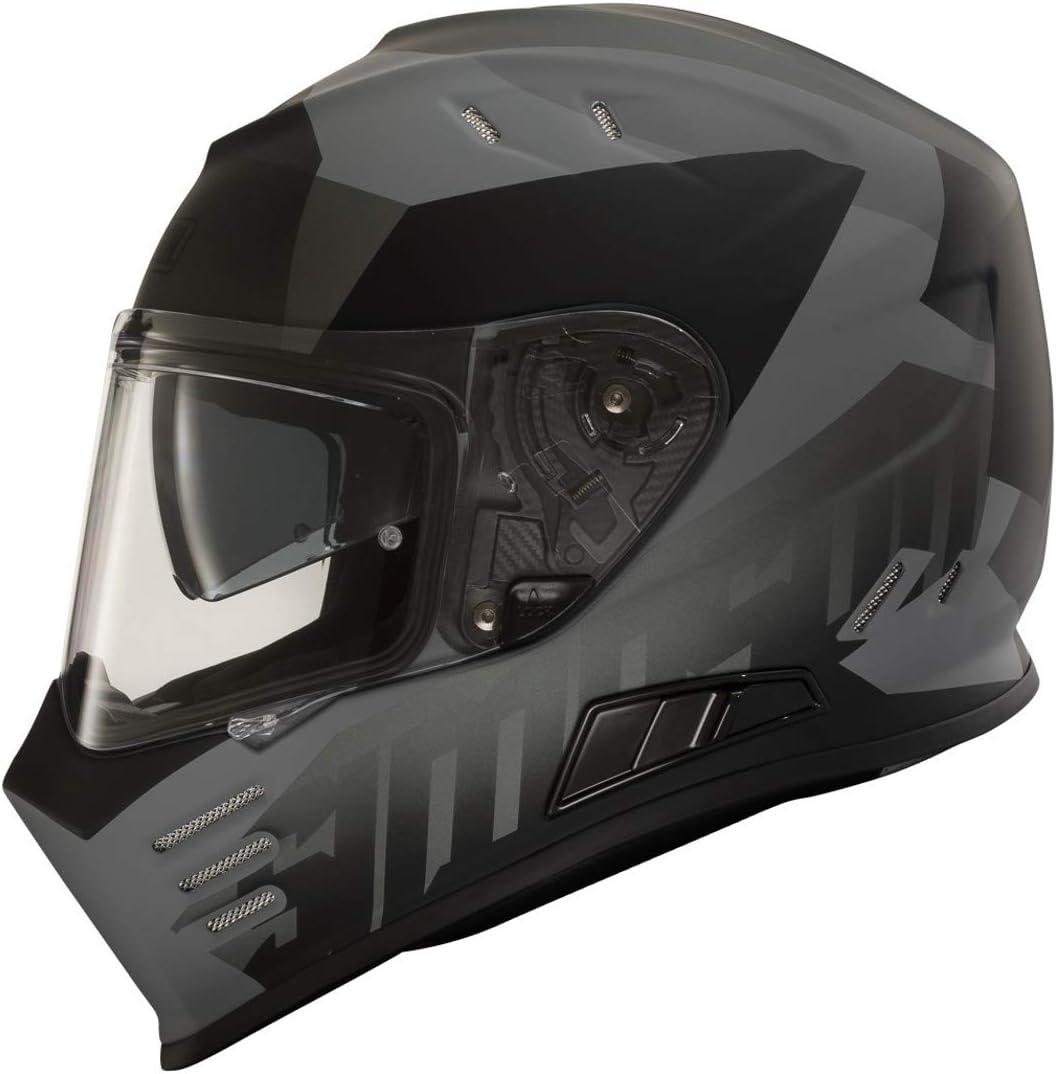 Simpson Venom Army Motorradhelm Schwarz//Gelb M