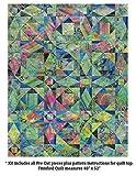 quilt kits - Benartex Storm at Sea Quilt Kit Precut Bali Batik Fabric & Pattern