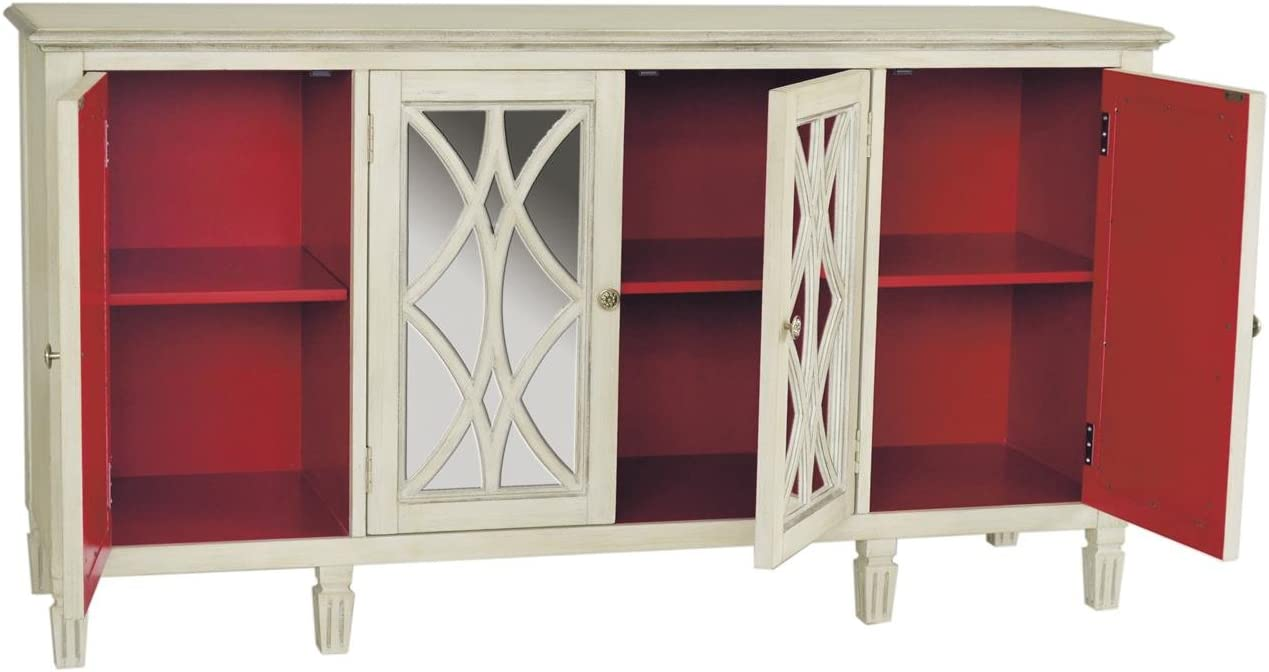 Pulaski Pamela Console, 64 by 18 by 34-Inch, White