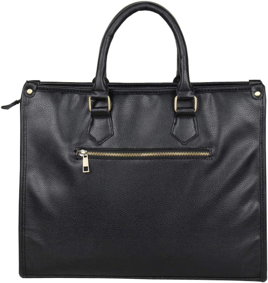 Mens portable business briefcase,Shoulder diagonal file package-black