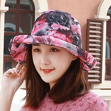 YXLMZ Señoras Mujeres Sombreros Sombreros de Sol Visor de Verano al Aire  Libre Cuenca Pescador Tapa 5cb82cd9f6b