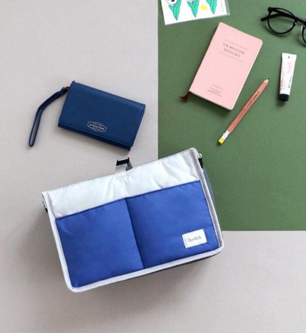 kaxima大容量,仕上げパッケージ、ストレージバッグ、化粧バッグ、ベビーバッグ、30 x 15 x 20 cm ブルー  ブルー B077XXK9X4