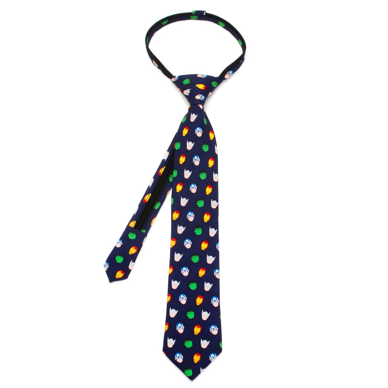 Marvel Avengers Boys' Zipper Tie, Officially Licensed