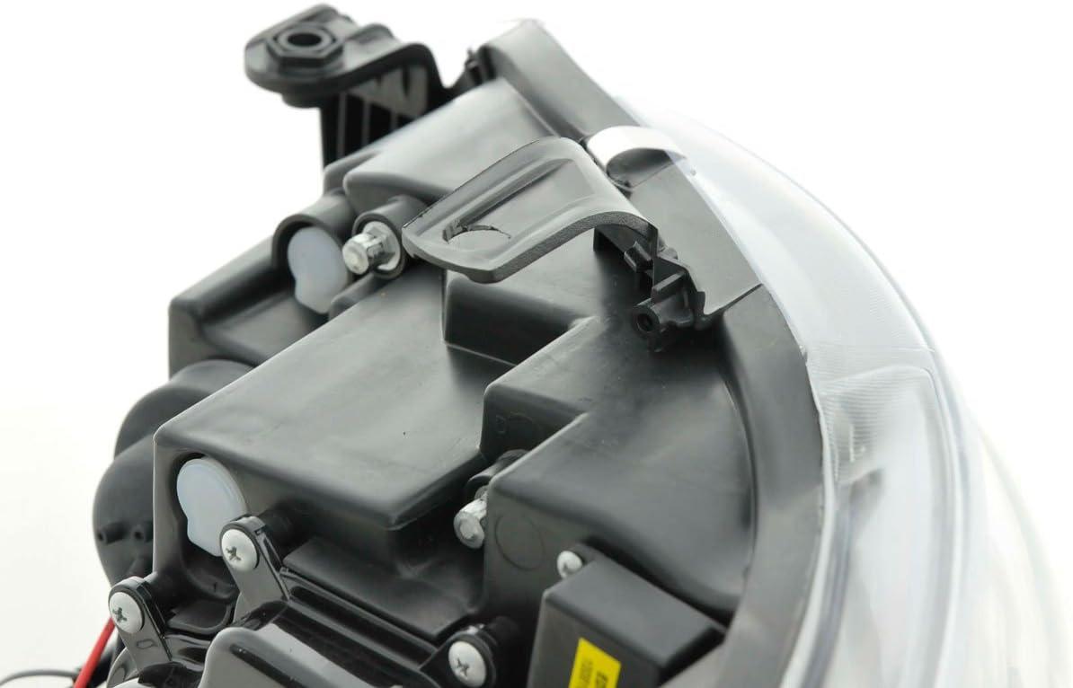 Bj 08- schwarz FK Automotive FKFSSE010015 Daylight Scheinwerfer passend f/ür Seat Ibiza Typ 6J