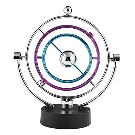 f949779050e Swing Ball Elettronico Scrivania Moto Perpetuo Giocattolo di Scienze  Fisiche Cinetico Art Globe Newton Pendulum Balls