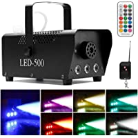[2019 UPGRADED] Smoke Machine w/Lights, softeen 500W Party Fog Machine w/ 2 Wireless Remote Controls, Fogging Machine w/Colorful LED Light Effect for Holidays Parties Weddings Christmas Halloween