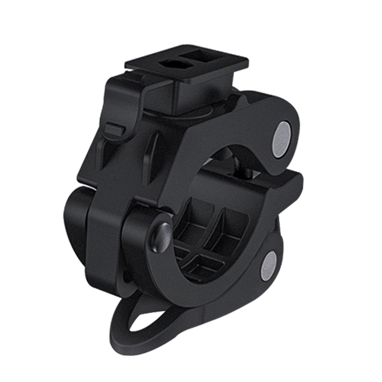 Stretchy Tactical Antorcha Bolsa titular de la antorcha cubierta con clip de 360 grados Rotatable cintur/ón Ultrafire linterna Holster Negro