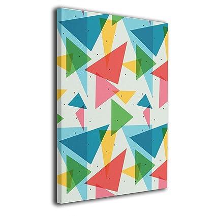 Amazon Com Yz Mamu Cute Triangle Pattern Wall Art Painting Prints
