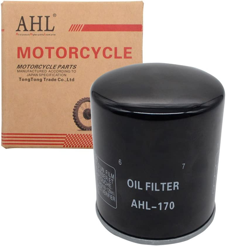 AHL 170 /Ölfilter f/ür XL883C SPORTSTER CUSTOM 54 CI 2002-2010 Schwarz