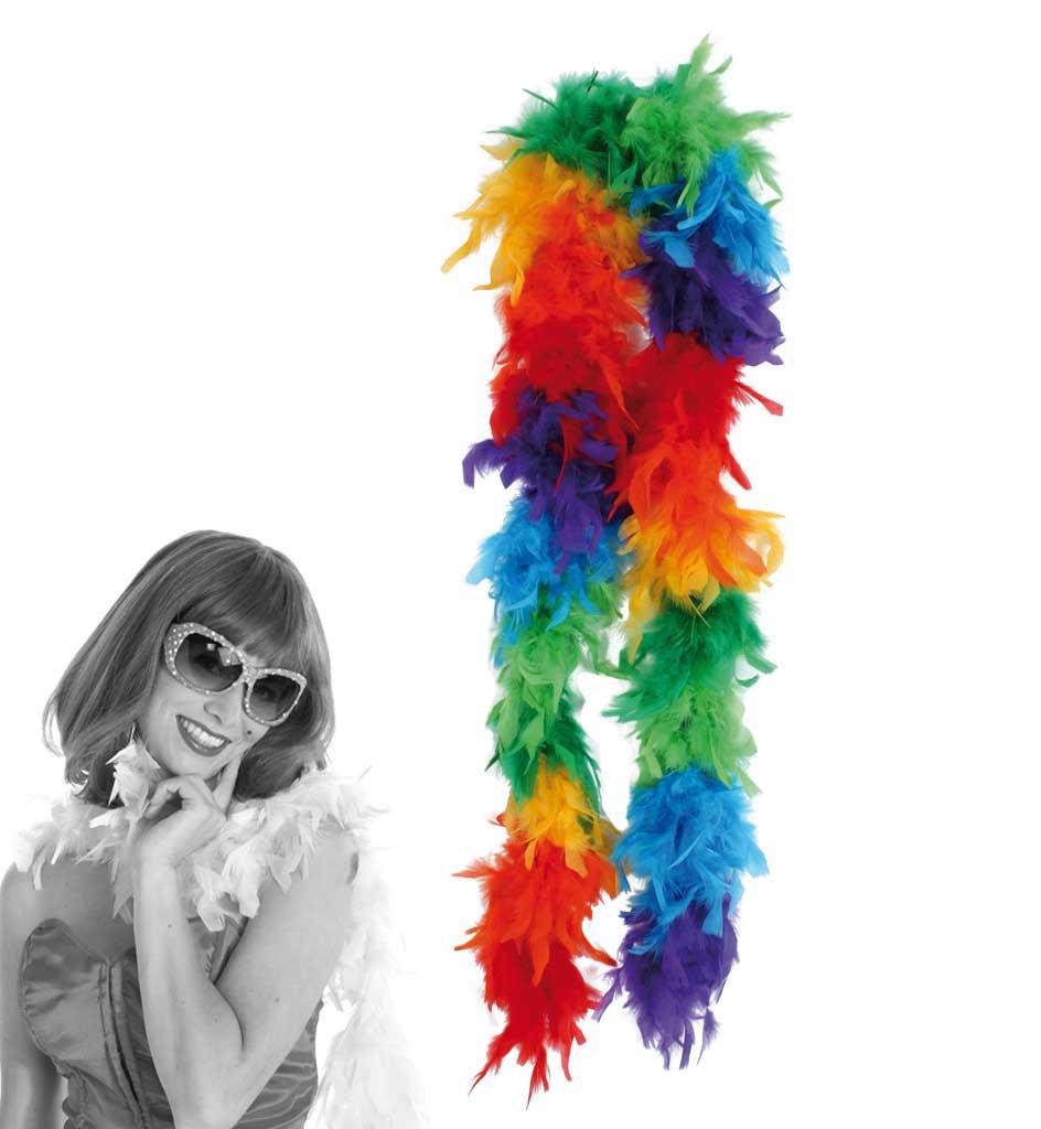 Arco iris de colores boa de plumas de 1, 8 m buy' n' get