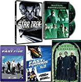 Before the Revolution 2 Fast Action Sci-Fi Movie Pack Matrix Reloaded / Revolutions / Fast & Furious 2Fast 2Furious / Fast Five + Star Trek 5 Movie Set