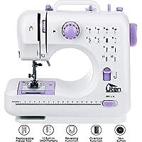 AGM Portable Sewing Machine, Uten 12 Stitches 2 Speed Heavy Duty Sew Machine, Handheld Quilting Embroidery Overlock Quick Sewing Machine