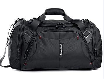 Maletas Deportivas Bolsas de Viaje para Hombres Nylon Duffle H Bag Organizador Grande Mochilas Plegables Black: Amazon.es: Equipaje