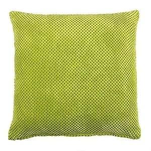 """2X Relleno Chenilla Gruesa Spot Verde 17"""" - 43cm Cojines"""