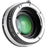 中一光学 (ZHONG YI OPTICS) フォーカルレデューサー マウントアダプター Lens Turbo Ⅱ N/G-FX (ニコンFマウント(Gシリーズ対応) レンズ → 富士フイルムXマウント)