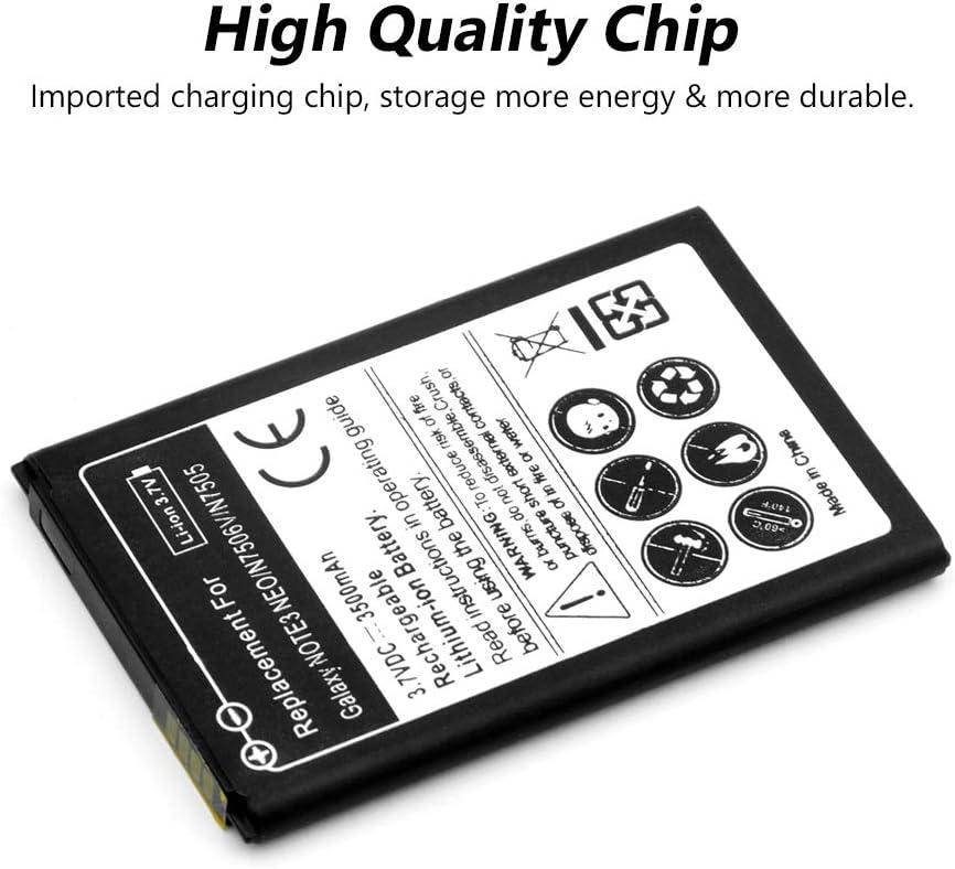 2PCS Replacement Battery,Battery for Samsung Galaxy Note 3 Neo N7502 N7505 N7506 N7506V N7500Q 3500mAh
