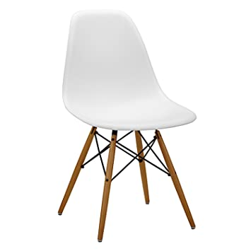 Set Of 6 Charles U0026 Ray Eames Style Replica DSW Eiffel Dining Lounge Chair  (White