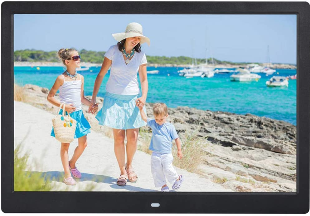 Digital Photo Frame 1280/×800 High Resolution Display USB and SD Card Slot and Remote Control QOUP 15-Inch Widescreen Digital Photo Frame Motion Sensor