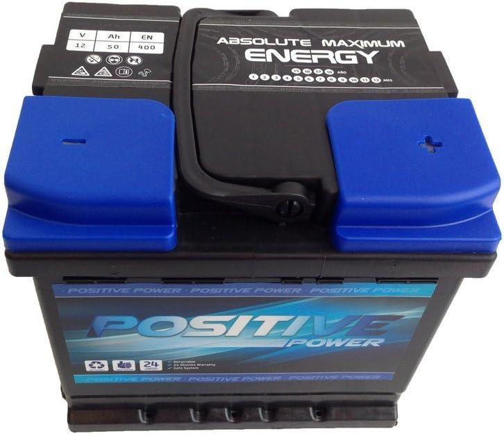 Batería de Coche 50 Ah Positive power derecha